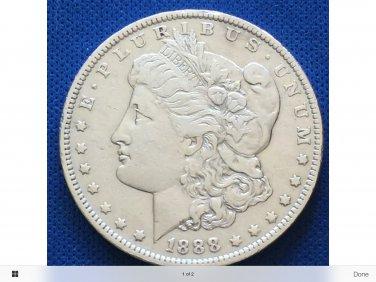 morgan silver dollar. Rare date 1888 O