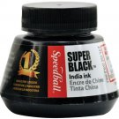 Speedball 2 oz Super Black India Ink Calligraphy drawing art crafts painting stamps paper ephemera