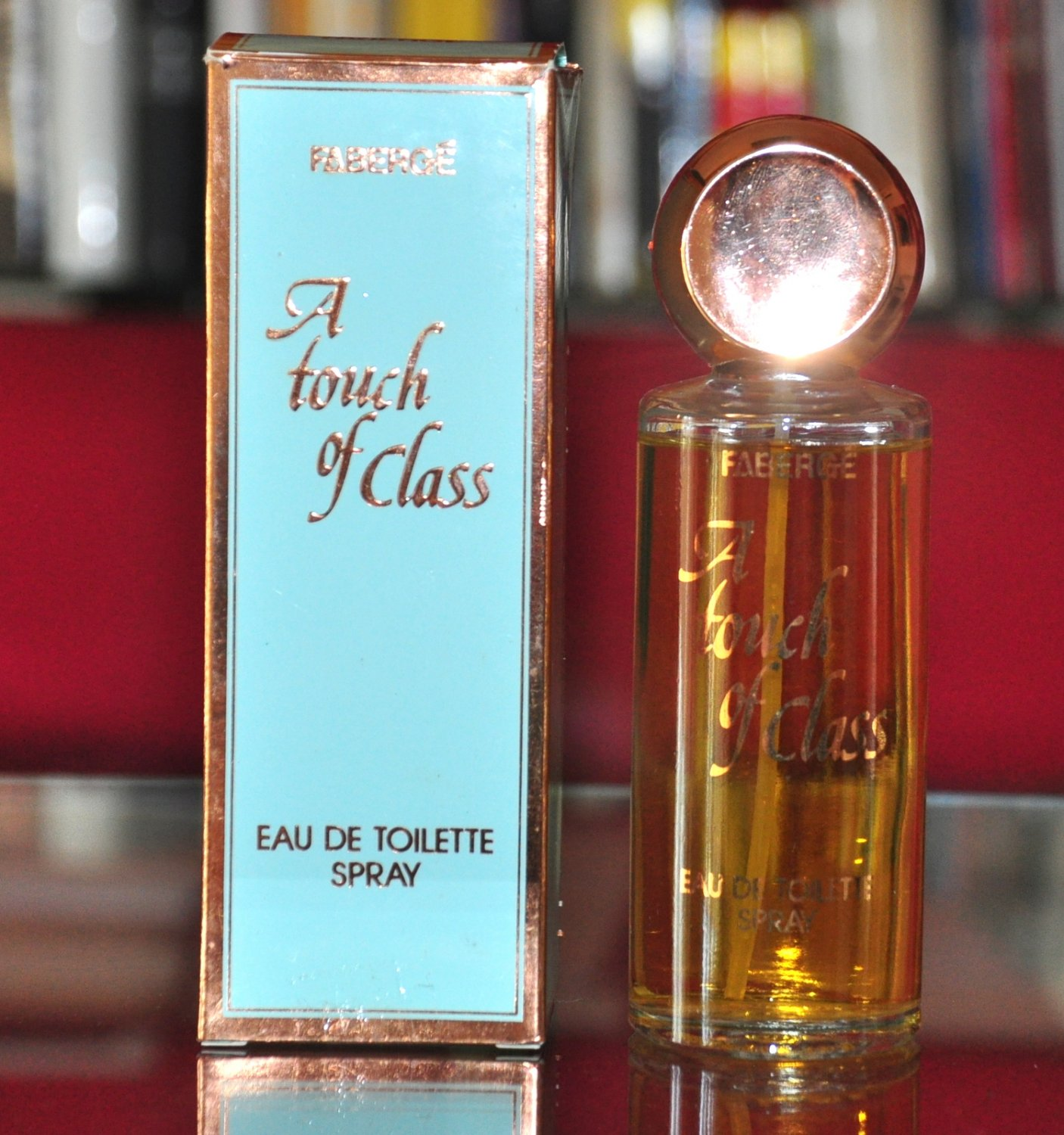 Fabergé a Touch Of Class Eau De Toilette Edt 100ML 3.4 Fl. Oz. For Woman Super Vintage Rare 1981
