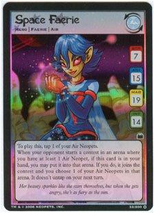 Space Faerie Holofoil Rare 15/100 Neopet Card