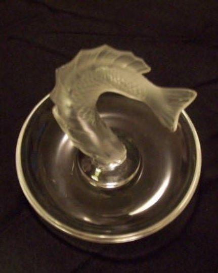 Lalique Leaping Fish Dish