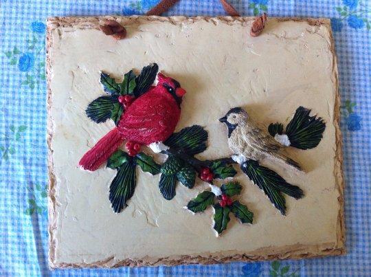 Handmade Plaque with Birds