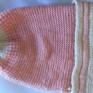 1927 Pale Pink and Cream Baby Hat