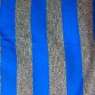 "62"" wide 1 yard 26"" Royal Blue And Grey Knit"