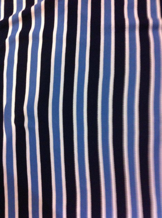 """56"""" wide 32"""" long Blue Stripe Knit"""
