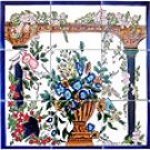 BACKSPLASH FLORAL ARCADES MOSAIC 9 CERAMIC TILES