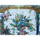 FLORAL ARCADES THEME MOSAIC 12 CERAMIC WALL TILES