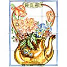 -BACKSPLASH PITCHER MOSAIC 12 CERAMIC TILES MURALS