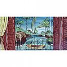 -LANDSCAPE RIVER VIEW MOSAIC 8 CERAMIC TILES MURALS