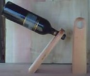 Redwood Single Wine Bottle Holder