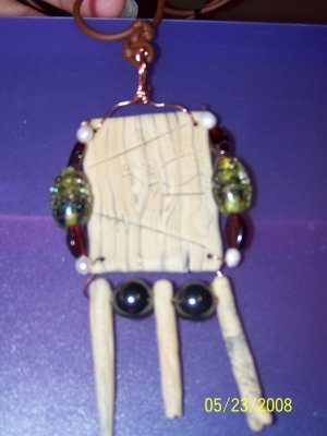 Bone and stone clay necklace