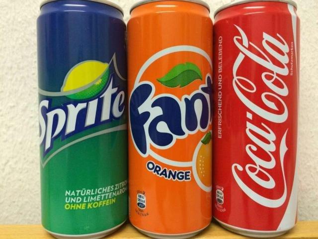 Coca Cola, Fanta and Sprite