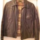 1949 LEATHER Biker's MOTORCYCLE/Bike Club Horsehide Riding Jacket, Sz 36S Genuine Horsehide