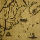 Original Reproduction 1750 Map-13 Colonies, Fm Williamsburg, 1976, Impressive on Parchment