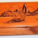 Sailor's Storage, Jewelry, Pockets, Catchall, Cedar Box, Custom Made in LN Cond