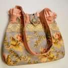 Handmade Floral PURSE, HANDBAG New, Gorgeous, Shoulder Strap & Pockets