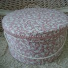 GORGEOUS FABRIC ROUND HAT BOX ***GREAT FOR STORAGE OR DISPLAY**