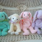 SET OF 4 ADORABLE TY EASTER BEANIE BABIES NEW  ***RETIRED***