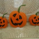 3 HALLMARK HALLOWEEN FABRIC FELT COUNTRY PUMPKINS ****SO CUTE****