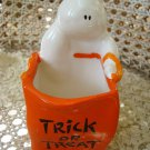 CERAMIC GHOST WITH TRICK OR TREAT BAG ***SO CUTE***