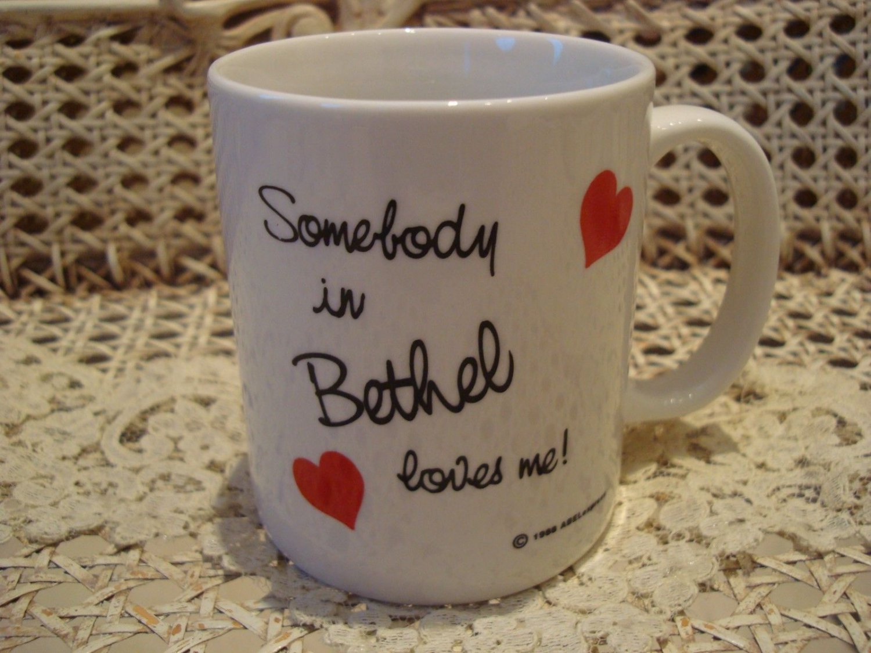 SOMEBODY IN BETHEL LOVES ME CERAMIC MUG ***NEW*** GREAT FOR JEHOVAH'S WITNESSES