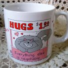 HUGS $1.00 EVERYTHING ELSE IS NEGOTIABLE CERAMIC MUG ***NEW***