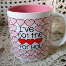 I'VE GOT THE HEARTS FOR YOU CERAMIC HEART MUG  ****NEW****