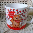 ADORABLE I LOVE YOU TEDDY BEAR CERAMIC MUG ***NEW*** SO CUTE