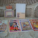 MARY ENGELBREIT 8 WHIMSICAL CARDS & ENVELOPES, POST IT NOTE HOLDER,POST IT NOTES