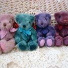 "RUSS BERRIE SET OF FOUR 8"" TALL ADORABLE TEDDY BEARS **SO CUTE*** NEW"
