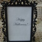 FANCY BLACK METAL PICTURE FRAME FOR HALLOWEEN DECORATING