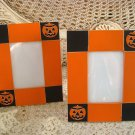 SET OF 2 PUMPKIN JACK O'LANTERN HALLOWEEN PICTURE FRAMES **SO CUTE***