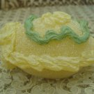 FAUX EASTER SMALL YELLOW PANORAMA SUGAR EGG DECORATION WITH BUNNY INSIDE *NEW IN BOX*