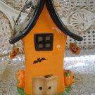 HALLMARK HALLOWEEN CERAMIC HAUNTED HOUSE TEALIGHT VOTIVE HOLDER ***RETIRED***