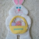 """HUGE 35"""" TALL PERSONALIZED """"JENNIFER"""" EASTER BUNNY WALL HANGING *CUTE*"""