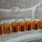 7 HALLOWEEN VOTIVE CANDLE HOLDERS HAUNTED HOUSE, SPIDER, TREE **SO CUTE**
