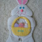 "HUGE 35"" TALL PERSONALIZED ""JULIE"" EASTER BUNNY WALL HANGING *CUTE*"