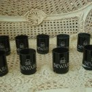 9 GOTHIC BEWARE SKULL BLACK VOTIVE CANDLE HOLDERS WITH SILVER GLITTER HALLOWEEN