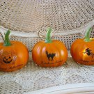 SET OF 3 LARGE HALLOWEEN FAUX PUMPKINS ***SO CUTE***