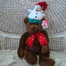 "ADORABLE GUND 16"" TALL CHRISTMAS BEAR SNOWMAN  HAT & SCARF ***SO CUTE***"