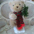 """SPECTACULAR 22"""" TALL GUND ANIMATED CHRISTMAS BEAR WITH CHRISTMAS TREE **SO CUTE*"""