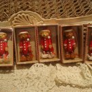 HOLLY BEARIES 5 RETIRED CHRISTMAS BEAR ORNAMENTS WITH BUNNY & BEAR SLIPPERS *NEW