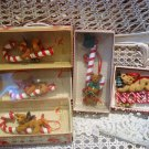 HOLLY BEARIES 5 RETIRED CHRISTMAS BEAR ORNAMENTS WITH CANDY CANES OR TREE *NEW*