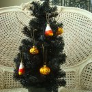 GOTHIC BLACK HALLOWEEN TREE IN CERAMIC POT **GREAT FOR ORNAMENTS***