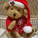 CHRISTMAS SANTA TEDDY BEAR WITH HOLLY  **NEW*** *SO CUTE**