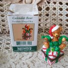 MIDWEST OF CANNON FALLS DECEMBER CHRISTMAS TEDDY BEAR MINI PORCELAIN BOX *NEW*