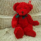 "RUSS BERRIE REDFORD 14"" TALL RED CHRISTMAS BEAR ***SO CUTE** **NEW WITH TAG**"