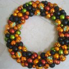 """GORGEOUS LARGE 19"""" HALLOWEEN WREATH WITH PUMPKINS **MUST SEE**"""