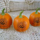 SET OF 3 HALLOWEEN TRICK OR TREAT FAUX PUMPKINS ***SO CUTE***