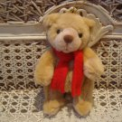 """GUND 6"""" TALL JOINTED CHRISTMAS BEAR ORNAMENT WITH SCARF ***SO CUTE***"""